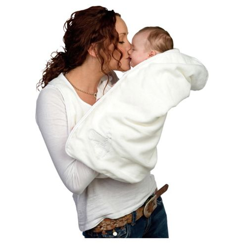 Cuddledry Apron Baby Towel, White