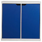 Seattle Kids 2 Door Storage Unit, White & Blue