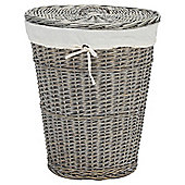 Wicker laundry basket Grey Wash