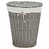 Tesco Wicker Laundry Basket, Grey