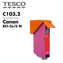 Tesco BCI3/6 Magenta Printer Ink Cartridge (Compatible with printers using Canon BCI-3/6 Magenta Printer Ink Cartridges)