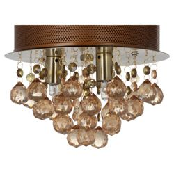 Tesco Lighting Ball Droplet Ceiling Light Cognac
