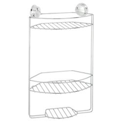 Croydex Twist n Lock Plus 3 Tier Shower Caddy