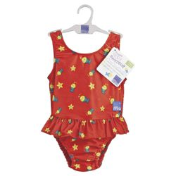 Bambino Mio Swim Nappy/Swim Suit - Red fish X Large