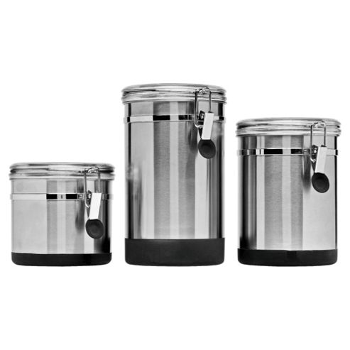 Go Cook 3 piece Stainless Steel Clip Storage with Soft Touch Bases
