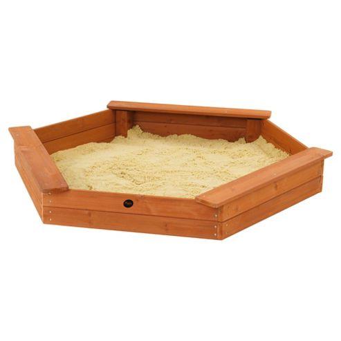 Plum Triple Seat Wooden Sandpit