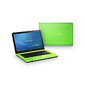 "Sony Vaio VPCCA1S1E/G Laptop (4GB, 320GB, 14"" Display) Green"