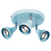 Tesco Lighting Eden 3 Spot Plate Pale Blue
