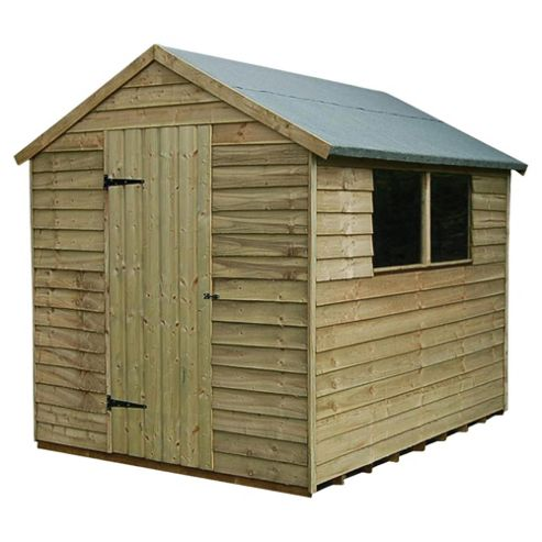 8x6 Timberdale Overlap Pressure Treated Apex Shed