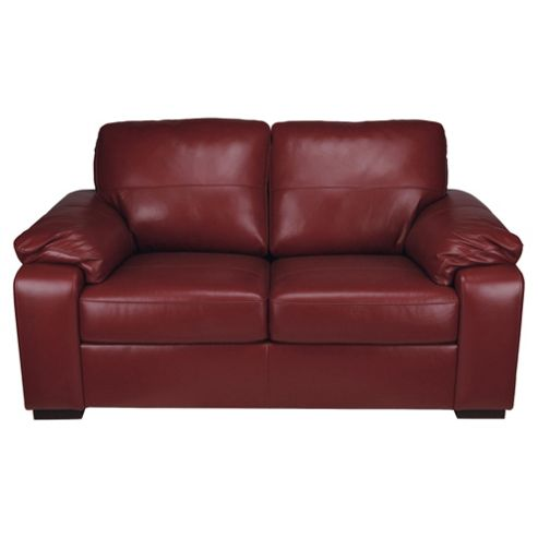 Ashmore Small Leather Sofa, Red