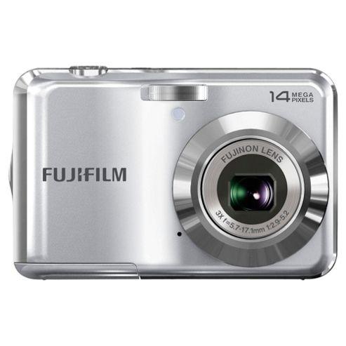 Fujifilm FinePix AV200 Digital Camera, Silver, 14MP, 3x Optical Zoom, 2.7 inch LCD Screen