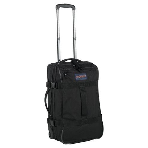 Jansport Footlocker 2-Wheel Duffle Bag Suitcase, Black