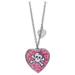 Pink Cookie Heart Pendant, With Purse