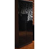 Welcome Furniture Mayfair Plain Midi Wardrobe - Aubergine - Light Oak - Ebony