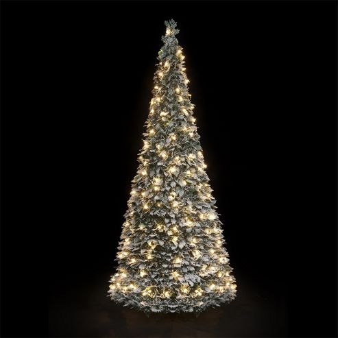 Buy 6ft Pre Lit Flocked Holly Pop Up Christmas Tree With
