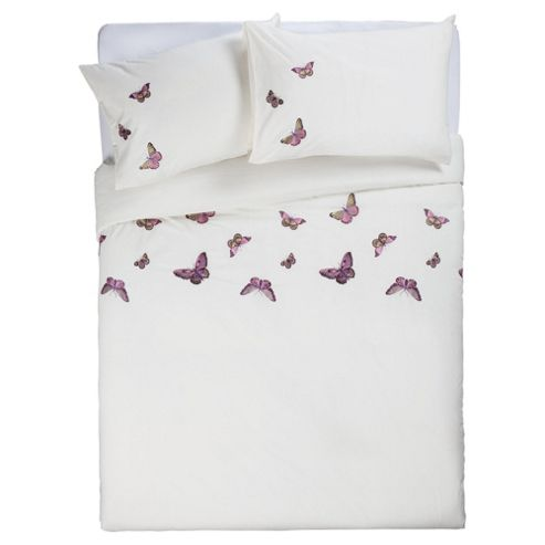 Buy Tesco Emb Butterflies King Size Cream From Our King