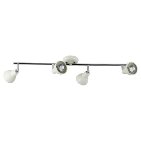 Tesco Lighting Eden Adjustable 4 spot Bar Cream