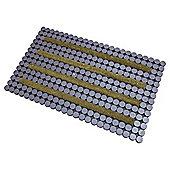 Scraper Circles Coir Doormat 75x45cm