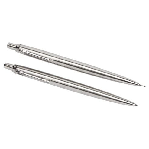 Parker Jotter Ballpoint Pen And Pencil, Stainless Steel