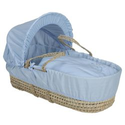 Clair de lune Starburst Moses Basket, Blue