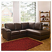 Ashmore Leather Corner Sofa, Brown Right Hand Facing