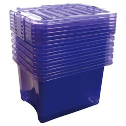 24L box with lid, 6 pack purple