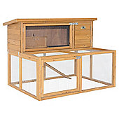 Rabbitshack double hutch with exercise run and cover