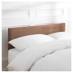 Mittal Double  Faux Suede Headboard, Chocolate