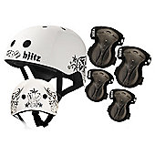 Blitz BMX Helmet, Knee & Elbow Pad Set