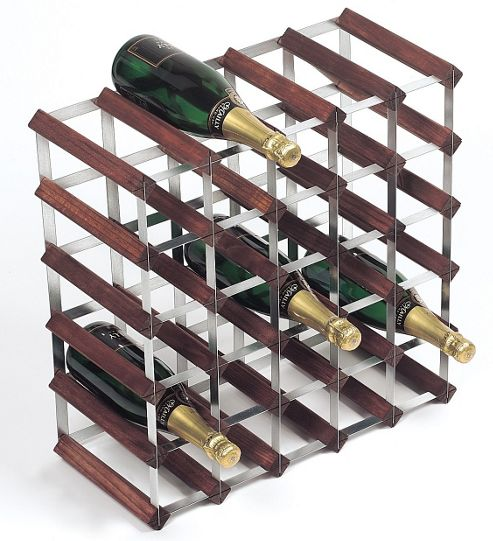George Wilkinson 30 Bottle Wine rack Kit - Stained Pine / Galvanised Steel