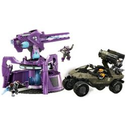 Mega Bloks Halo Wars UNSC Rockethog vs Anti Aircraft Gun