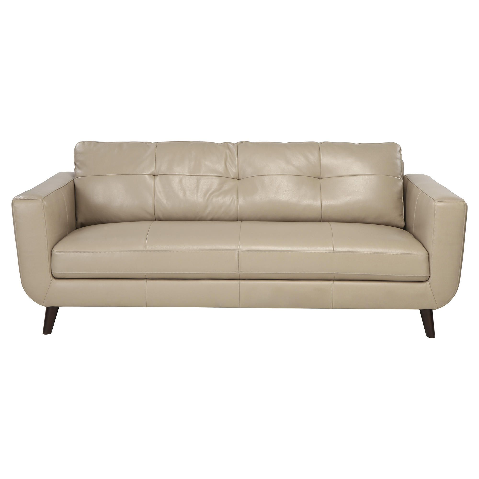 Lorenzo Leather Large Sofa Taupe at Tesco Direct