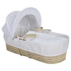 Clair de lune Starburst Moses Basket, White
