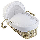 Clair de Lune Starburst White Palm Moses Basket