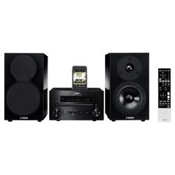 Yamaha MCR-550 CD/DAB/FM Micro HiFi System with Speakers and iPod Dock, Black