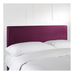 Mittal Single Faux Suede Headboard, Aubergine
