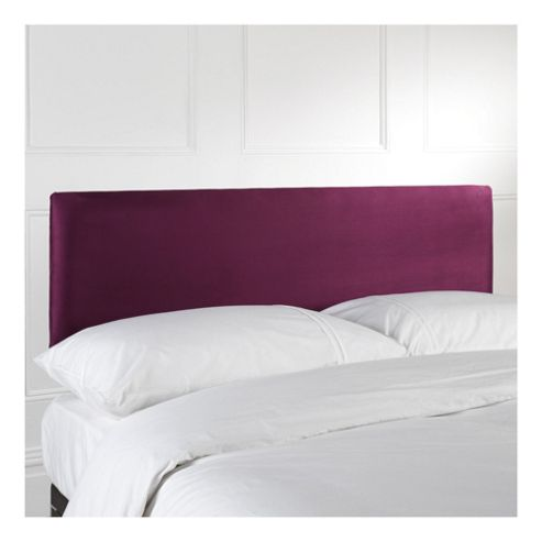 Seetall Mittal Headboard Aubergine Faux Suede Single