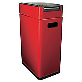 Oxo Softworks 40L Red Slim Touch Top Bin