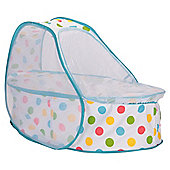 Koo-di Pop Up Travel Cot & Bassinette, Polka