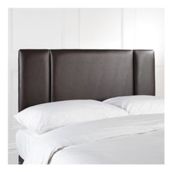 Portobello Double Faux Leather Headboard, Brown