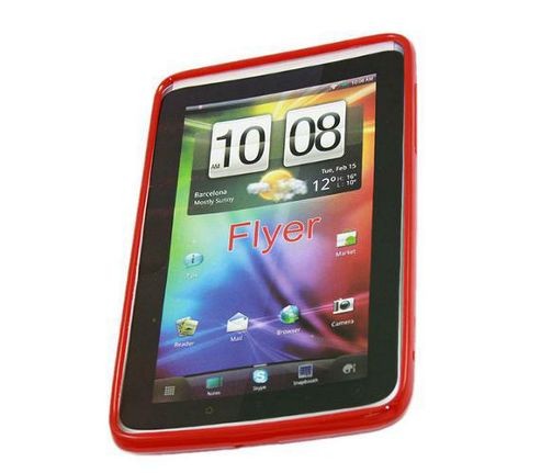 Smoked Transparent Red Smart ProGel Skin Case - HTC Flyer 3G Tablet