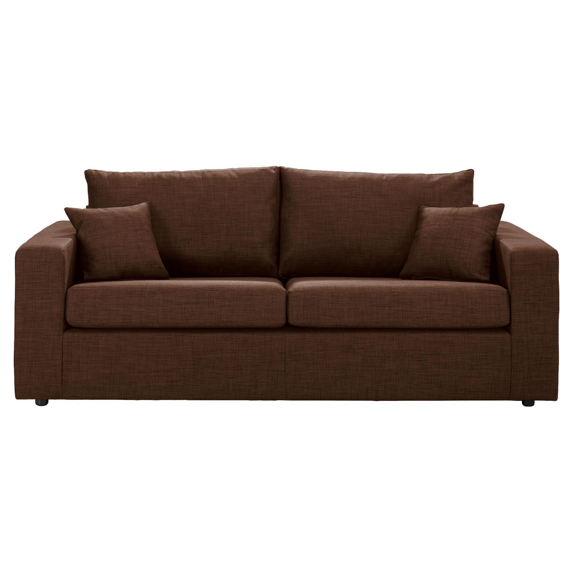 Maison Large Fabric Sofa, Chocolate at Tesco Direct
