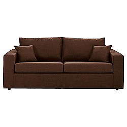 Maison Large Fabric Sofa, Chocolate