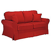 Louisa Fabric Sofa Bed, Red Loose Cover