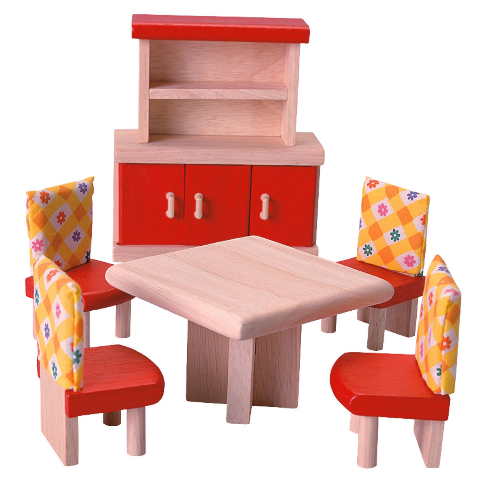 Superb img of Plan Toys Dining Room Neo Dolls House Wooden Toy Furniture Set with #C77804 color and 2000x2000 pixels
