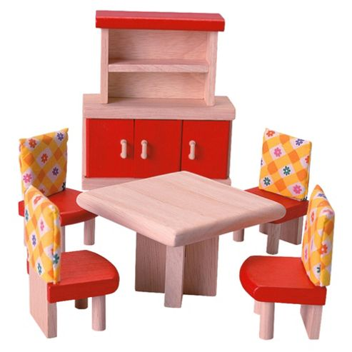Plan Toys Dining Room Neo Dolls House Wooden Toy Furniture Set