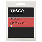 Tesco C511 Colour Printer Ink Cartridge (Compatible with printers using Canon CL-511 Colour Ink Cartridges)