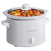 Crockpot 2.4l White Slow Cooker