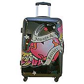 Pink Cookie Always & Forever 4-Wheel Hard Shell Suitcase, Medium