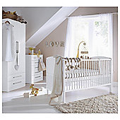 Saplings Larrisa 3 Piece Nursery Room Set, White